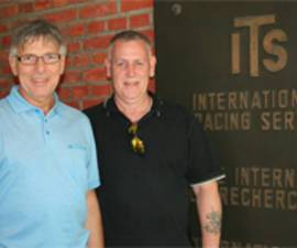 The picture shows Ron and Mark Ibbitson at the ITS