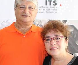 The picture shows David Robert Sealtiel and his wife Diana during their visit to the ITS
